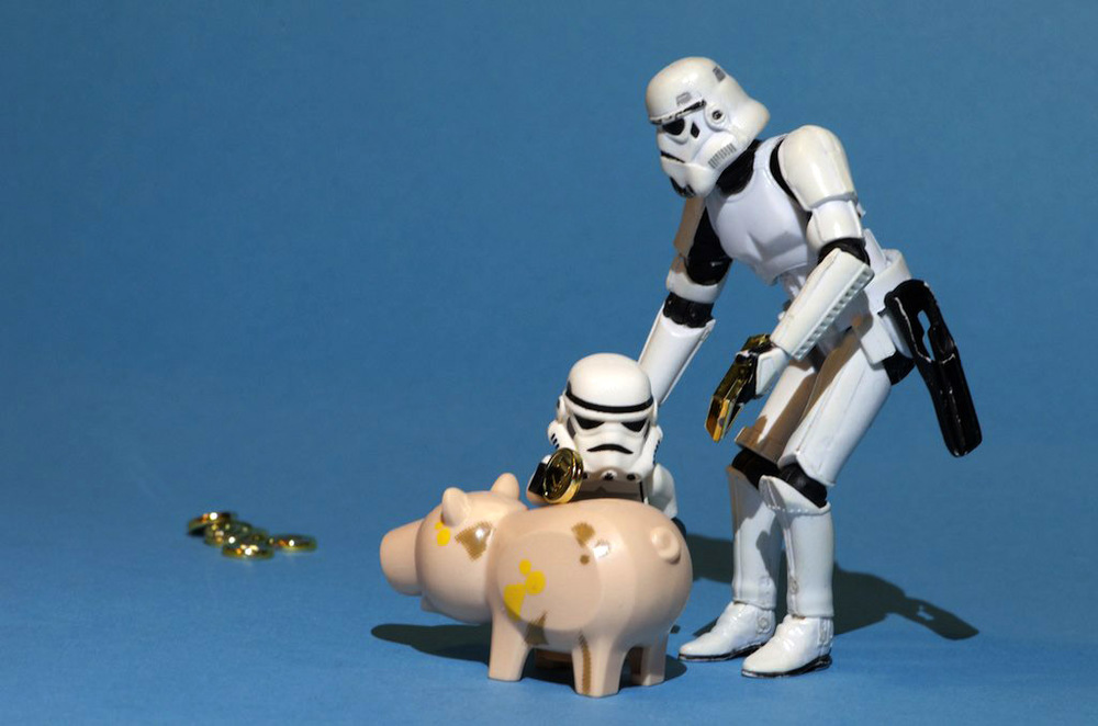 We're Saving All Our Money To Make A New Death Star  by Kristina Alexanderson on  Flickr