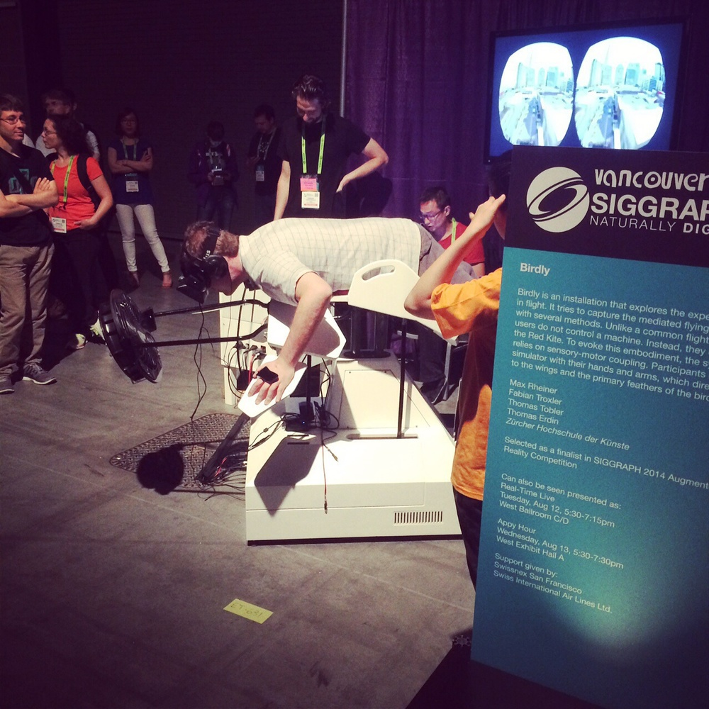 Birdly was the first thing I tried today, and may be my highlight of the conference.
