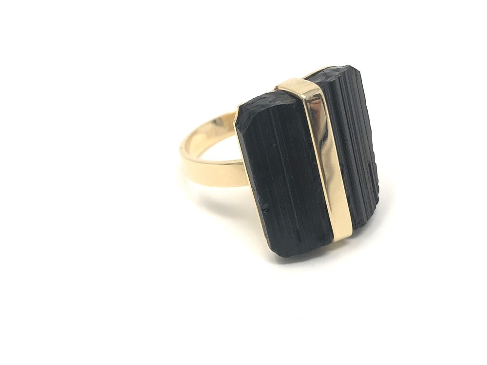 Protecting Black Tourmaline Ring