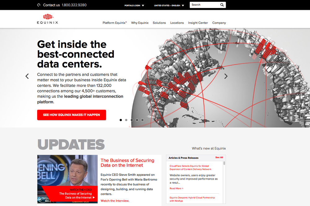 Equinix Website