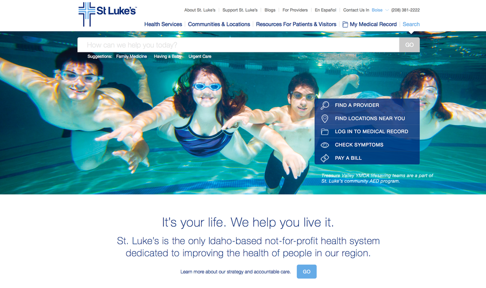 St. Luke's Health System Website Redesign