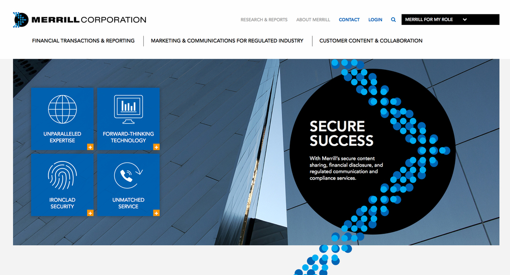 Merrill Corporation Website Redesign