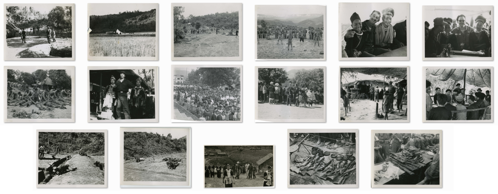 These images captured Hmong women, weapons and training of Hmong men in the early phases of the Secret War in Laos, early 1960s / from James W. Lair Collection