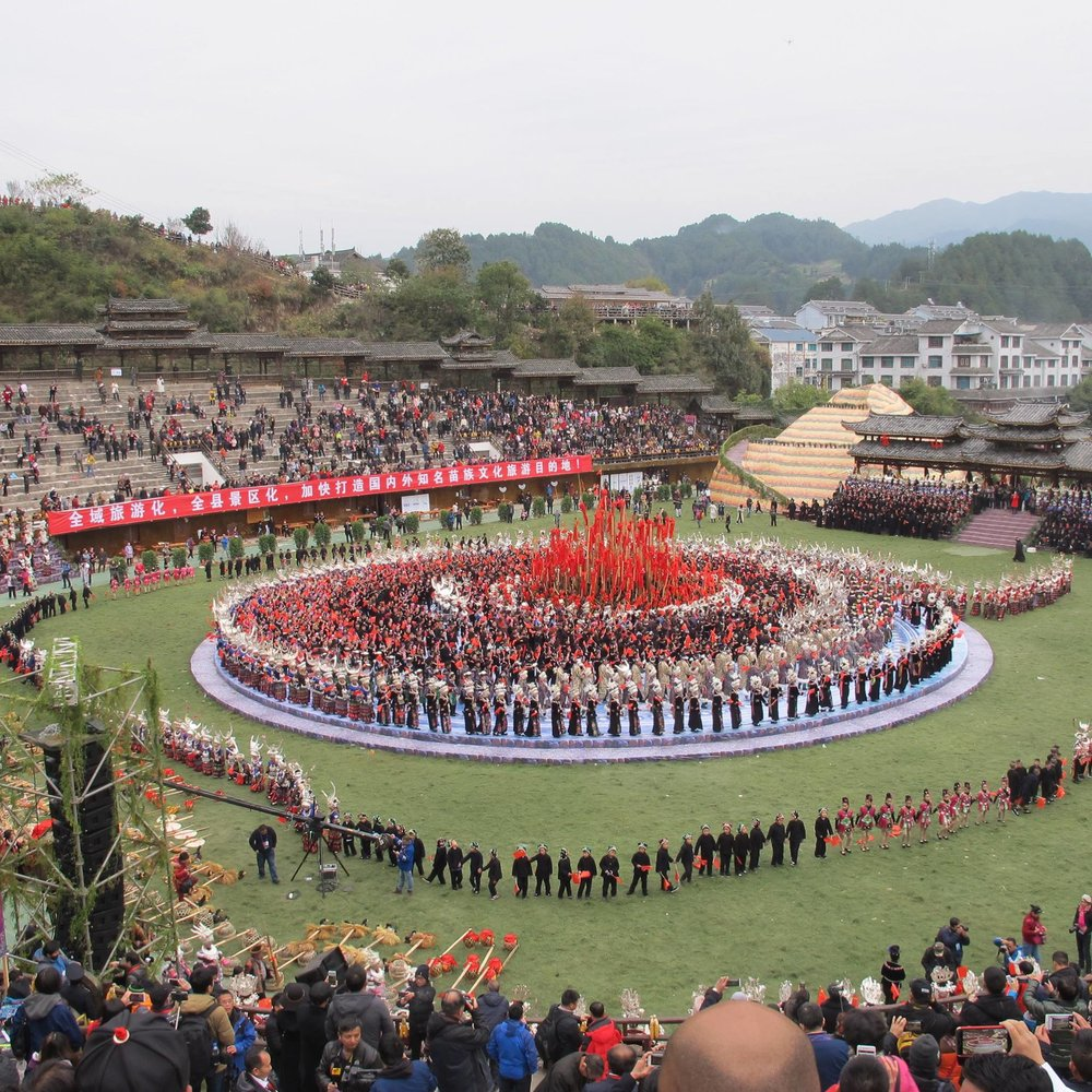 Hmong New Year Celebration in Leishan County, Guizhou Province, China in November 2017.