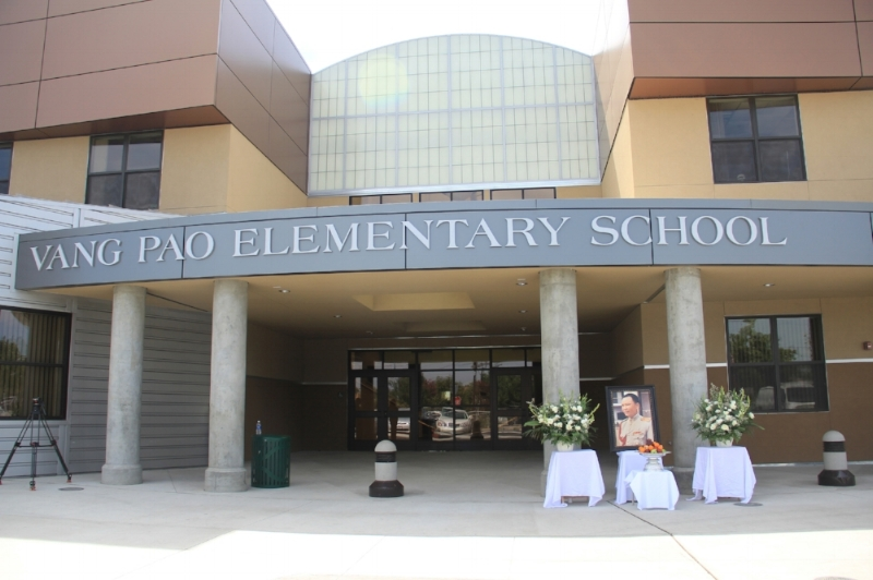 Fresno Unified School District names an elementary school after General Vang Pao  in Fresno, California, c. 2012. Thua Vang Collection.