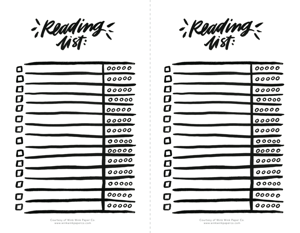 Click image to download Wink Wink Paper Co.'s free Reading List.