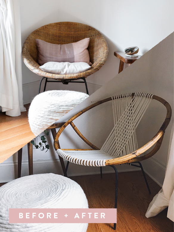 DIY // How To Restring A Wicker Hoop Chair In 15 Agonizing Steps