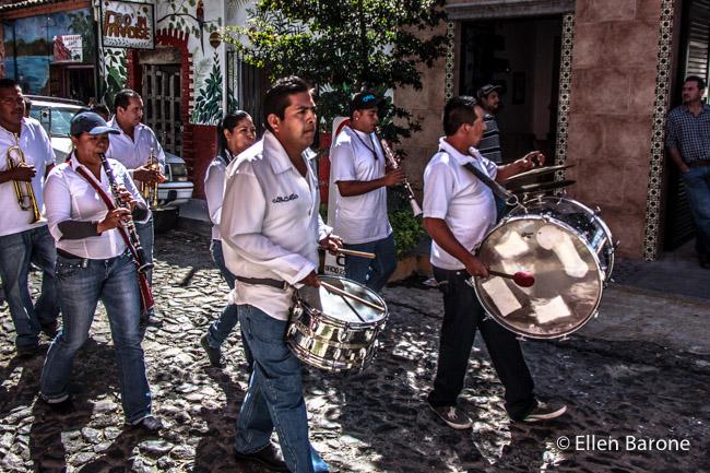 Parade band, Ajijic, Mexico.