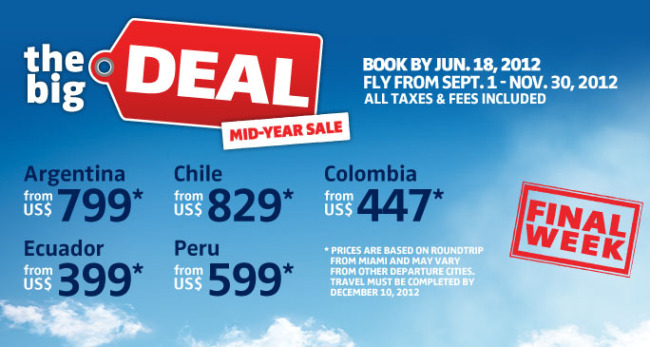 LAST MINUTE TRAVEL DEAL: South America From $399 Taxes