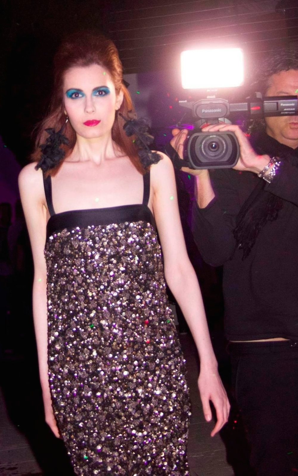 Modelling at a fashion show during the Cannes Film Festival last year in May 2014...