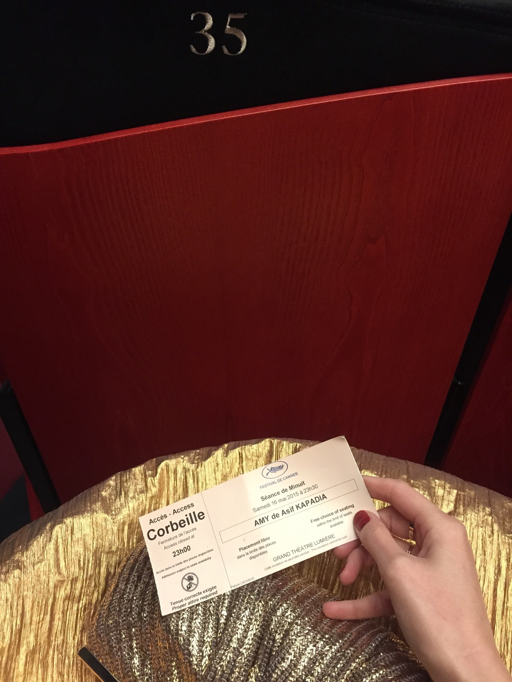 Cannes Film Festival Red Carpet Ticket & Seat