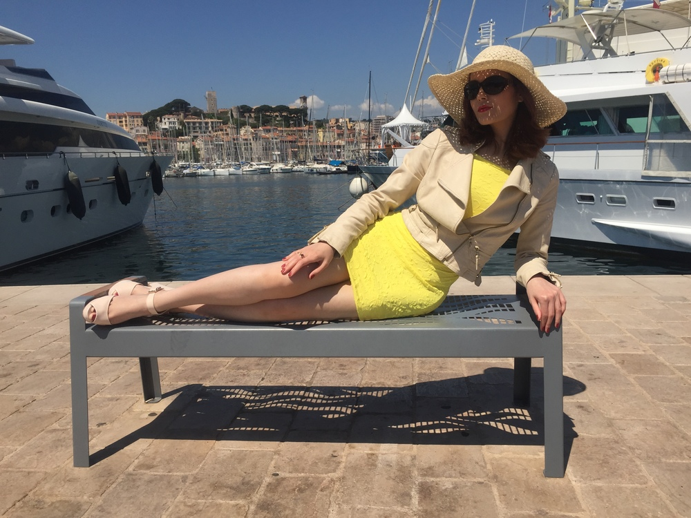 Cannes Yacht Dock... Miss Selfridge Yellow Dress