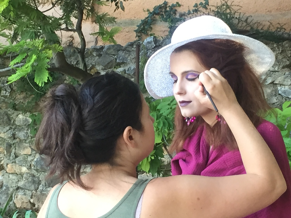 Behind the scenes of my French Riviera photo shoot in Nice with make-up artist Alana Gage...