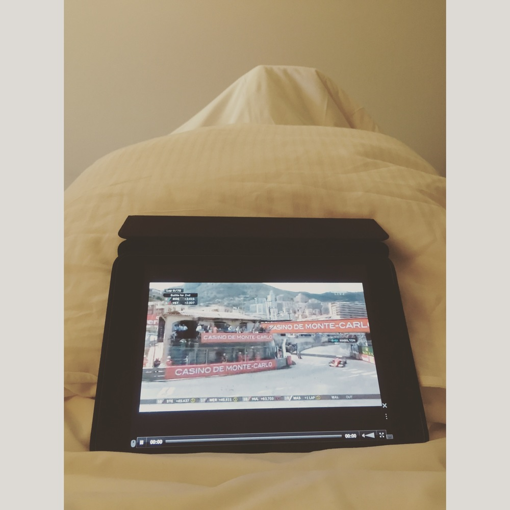 The Monaco Grand Prix from bed while unwell in Cannes this year...
