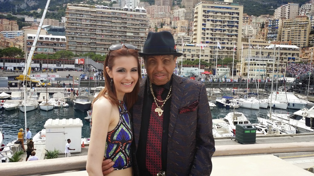 The Monaco Grand Prix last year in May 2014 from a yacht in Monaco with Joe Jackson, Michael Jackson's father...