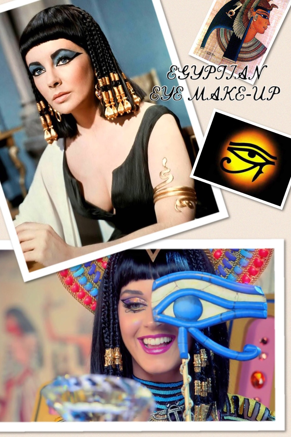 Egyptian eye make-up was the inspiration behind my make-up look...