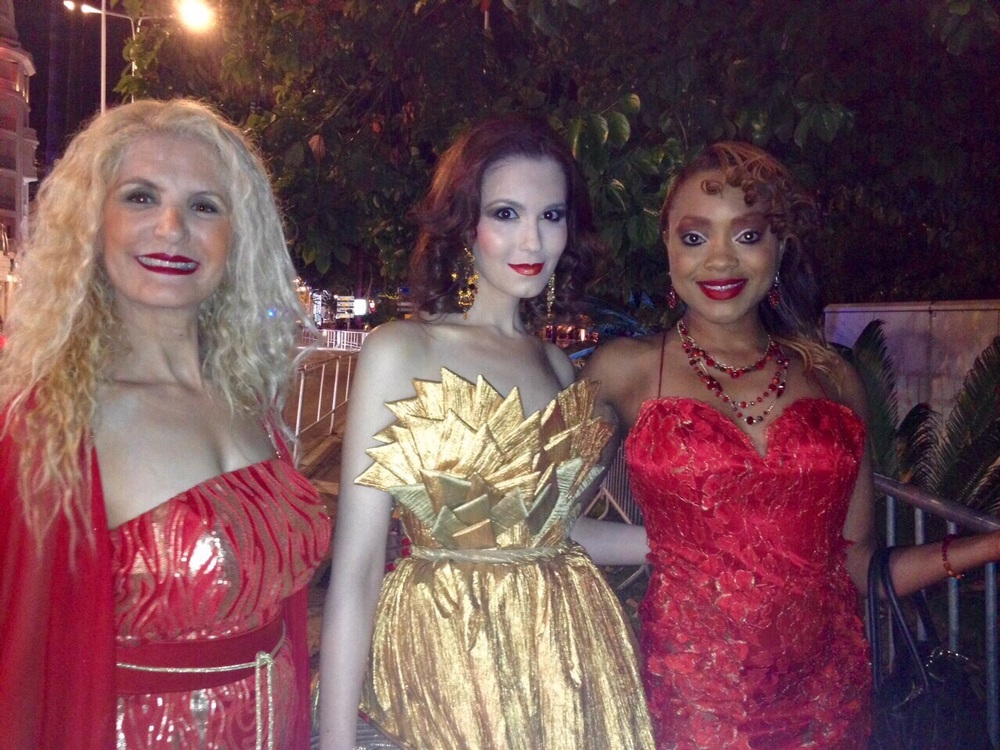 With Tiffany McCall & Fadila Kihel... I love how beautifully our dresses compliment each other...