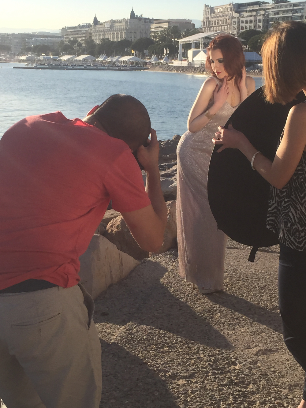 Behind the scenes of my Cannes promenade photo shoot with French photographer Dtu Doe...