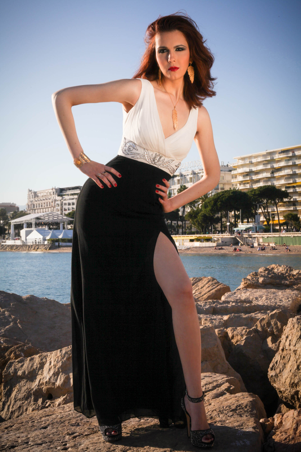 Cannes Promenade Photo Shoot... On the Rocks 1
