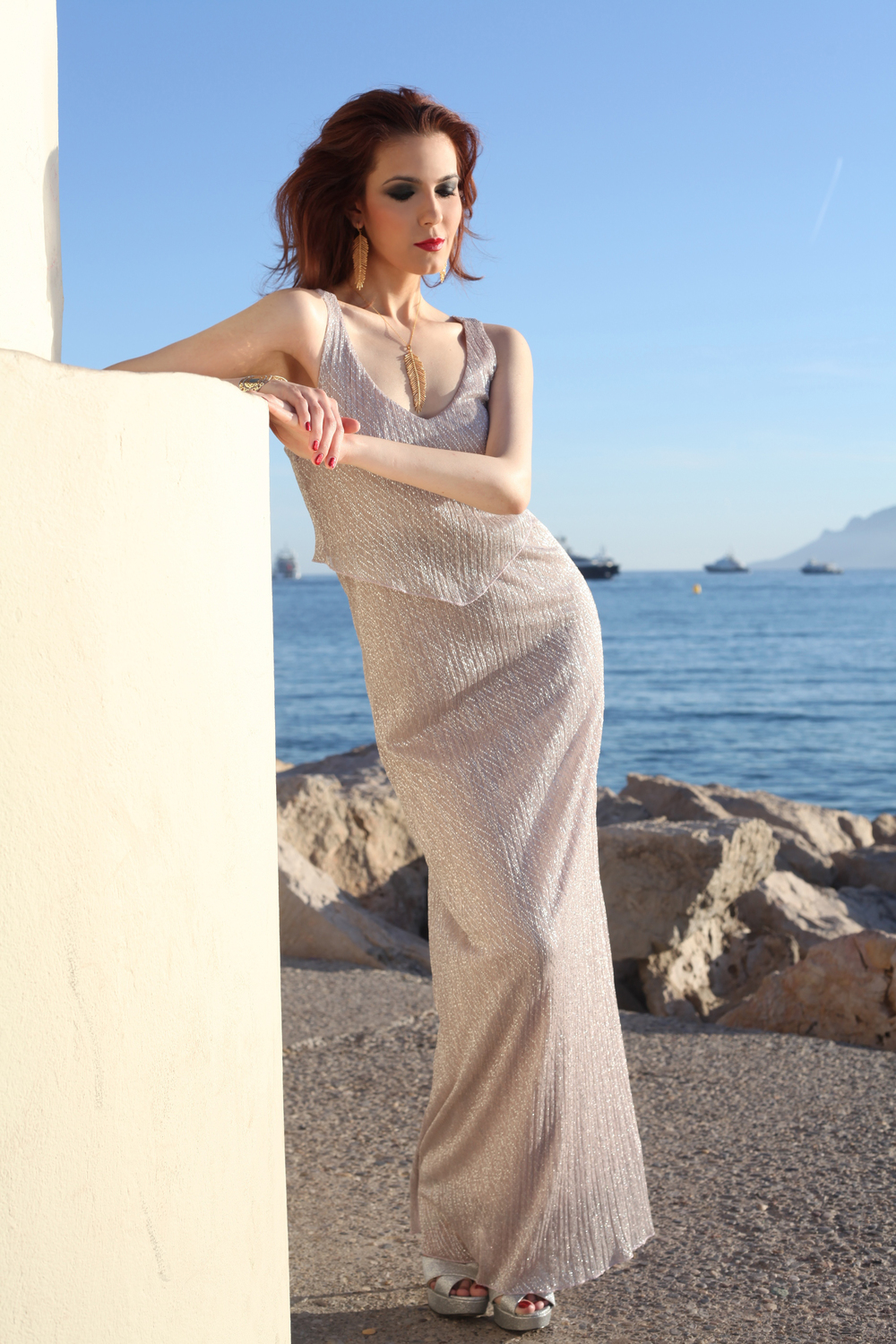 Cannes Promenade Photo Shoot... Grecian Column 1