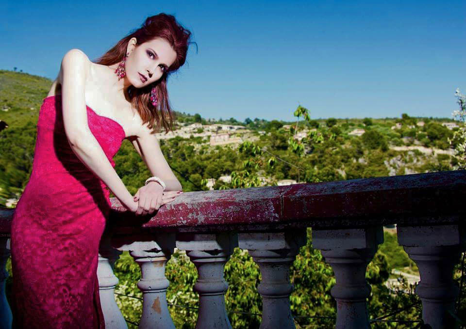 French Riviera Falicon Photo Shoot... Magenta Jane Norman Dress 2