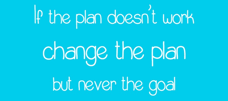 If The Plan Doesn't Work...