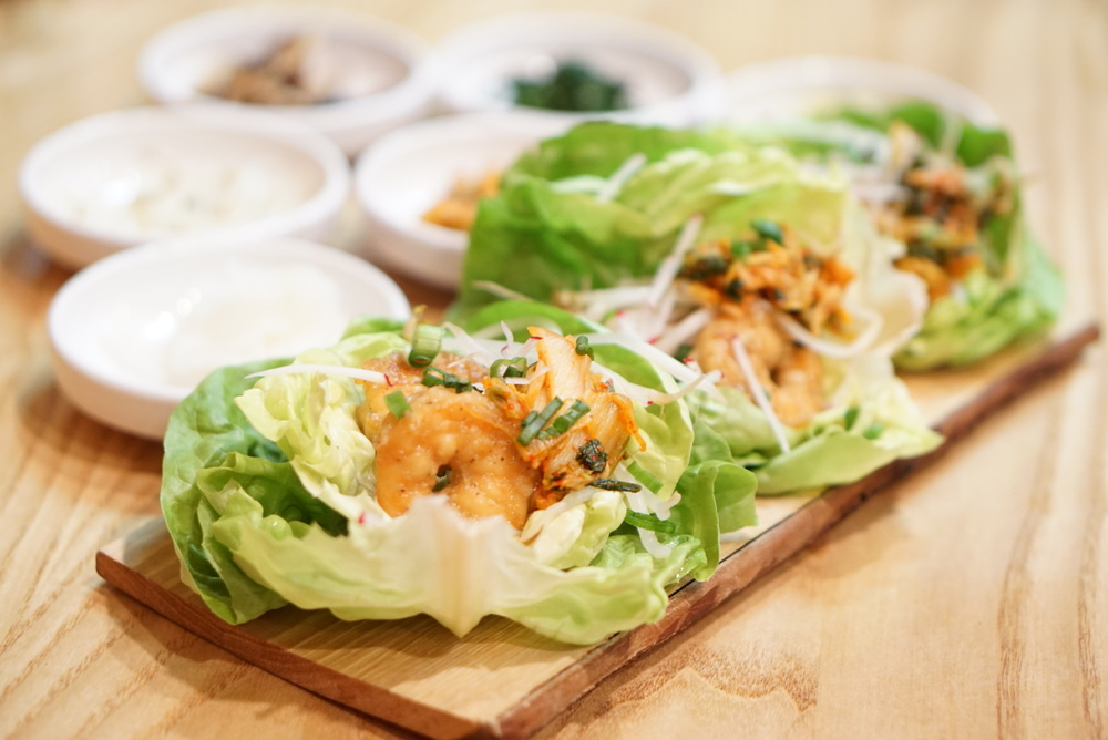 These shrimp lettuce wraps may be my favorite item on the menu.  The shrimp was lightly crispy and the kimchi gave it a tangy kick.