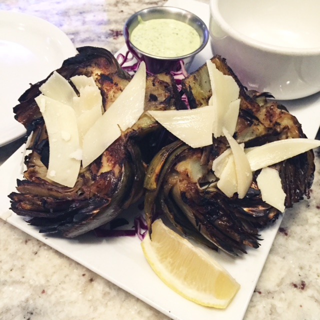 Grilled artichoke at Centrale Kitchen and Bar