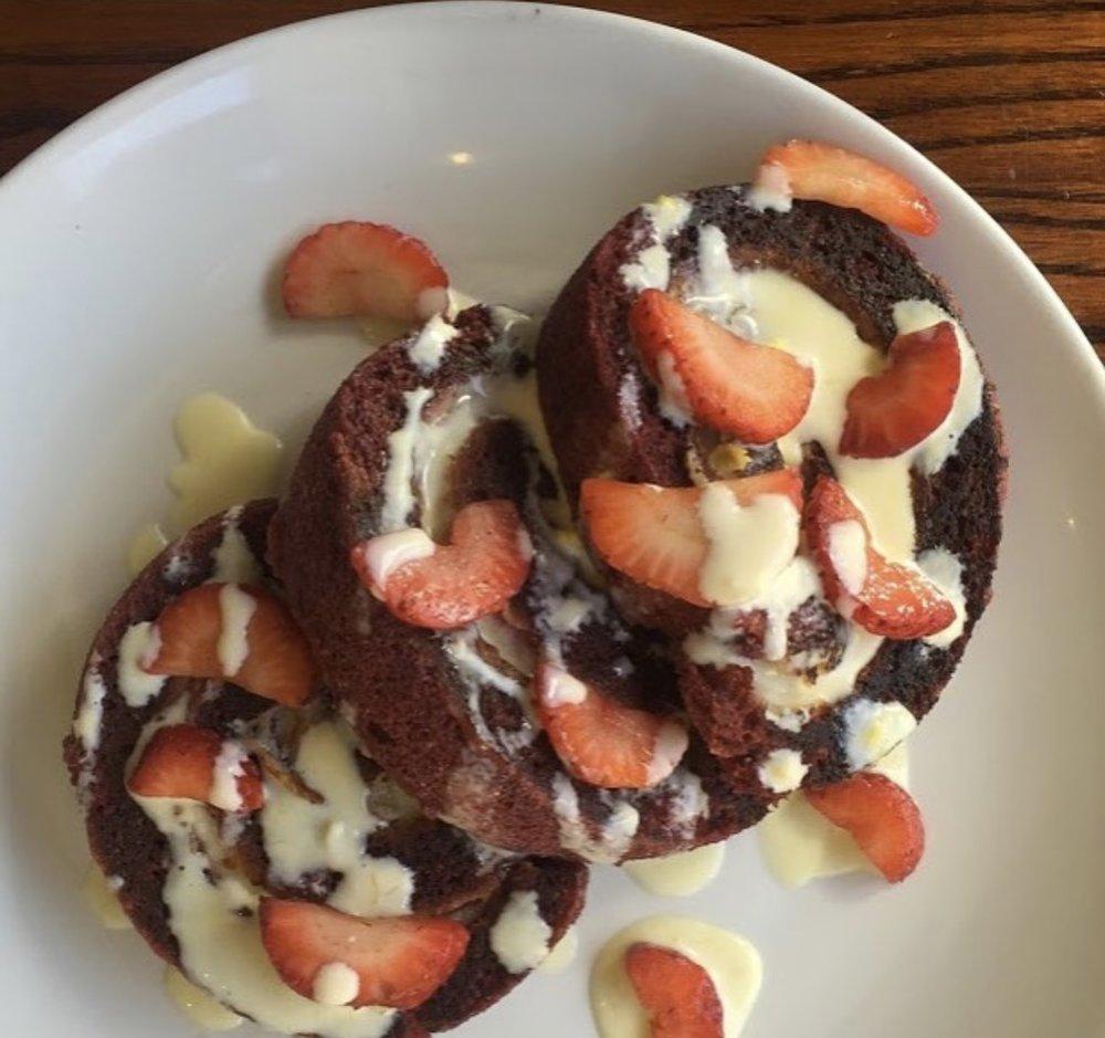 Red Velvet Pancakes at Kanela courtesy of Kanela's Instagram