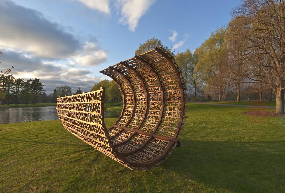 Vessel, 2010, steel and marine-grade plywood, 10'x8'11'