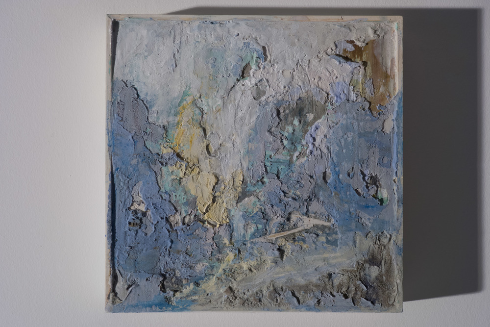 Shelley Vanderbyl - Abstract From Ashes 1 (Side Light) - 2016 - Fresco on Panel - 8x8.jpg