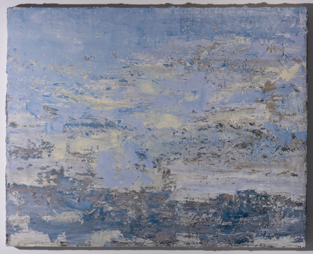 Shelley Vanderbyl - Palimpsest (Side Light) - 2016 - Fresco on Panel - 48x60.jpg