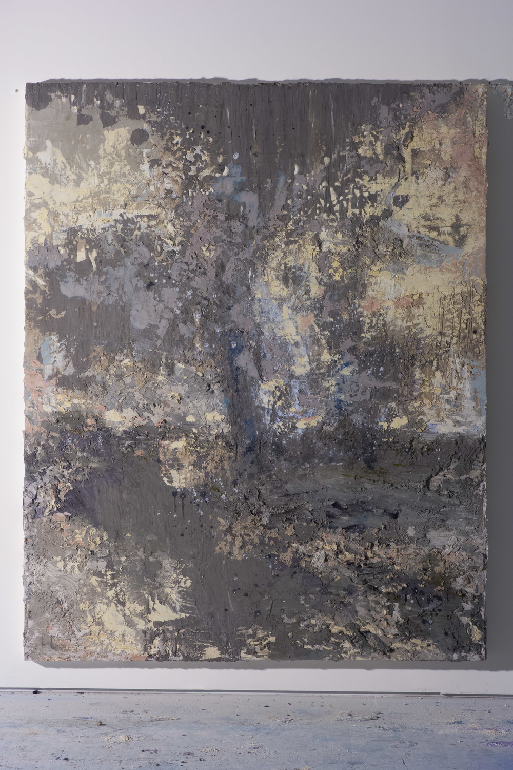 Shelley Vanderbyl - Reclaimed Ash (Side Light) - 2016 - Fresco on Panel - 48x60.jpg