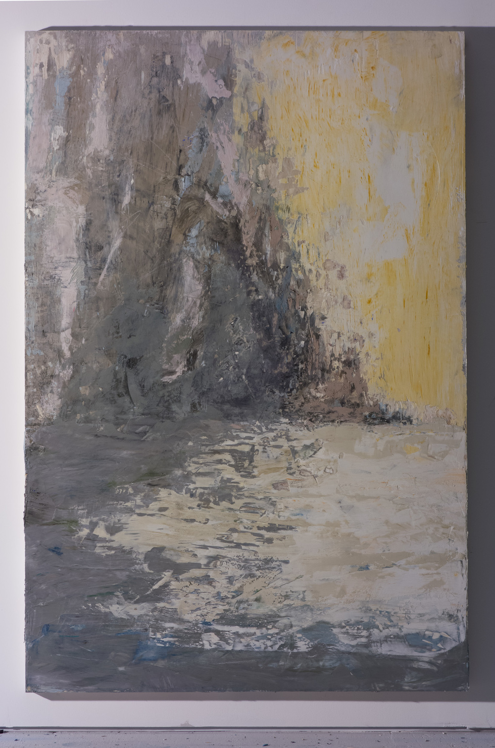 Shelley Vanderbyl - Shoreline (Side Light) - 2016 - Fresco on Panel - 40x60.jpg