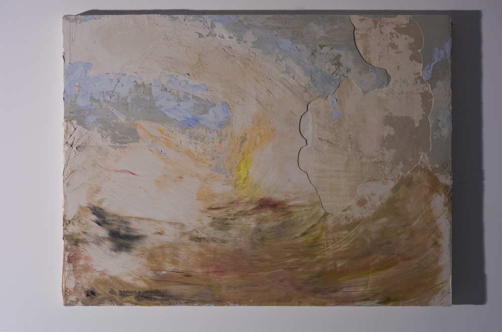 Shelley Vanderbyl - Signal Fire (Day) (Side Light) - 2016 - Fresco on Panel - 30x40.jpg