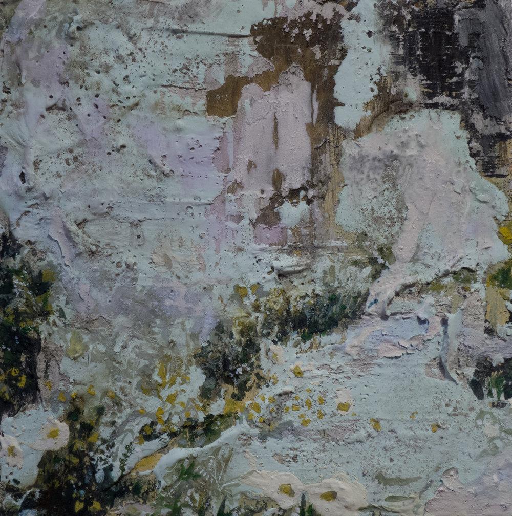 "GARDEN, fresco on panel, 8""x8"", 2015"