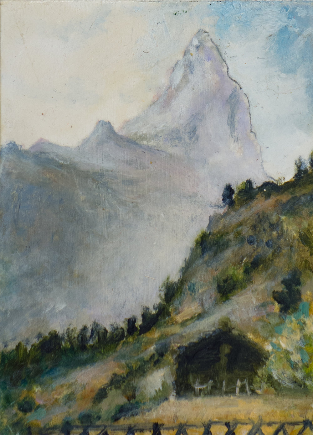 MATTERHORN, oil on card, 2009
