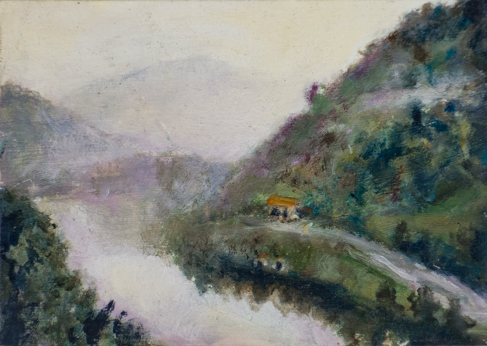 CENTO VALLEY 2, oil on card, 2009