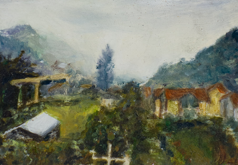 CENTO VALLEY, oil on card, 2009