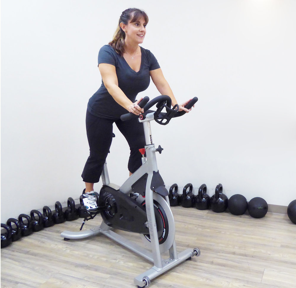 Certified Spin Instructor, Brenda