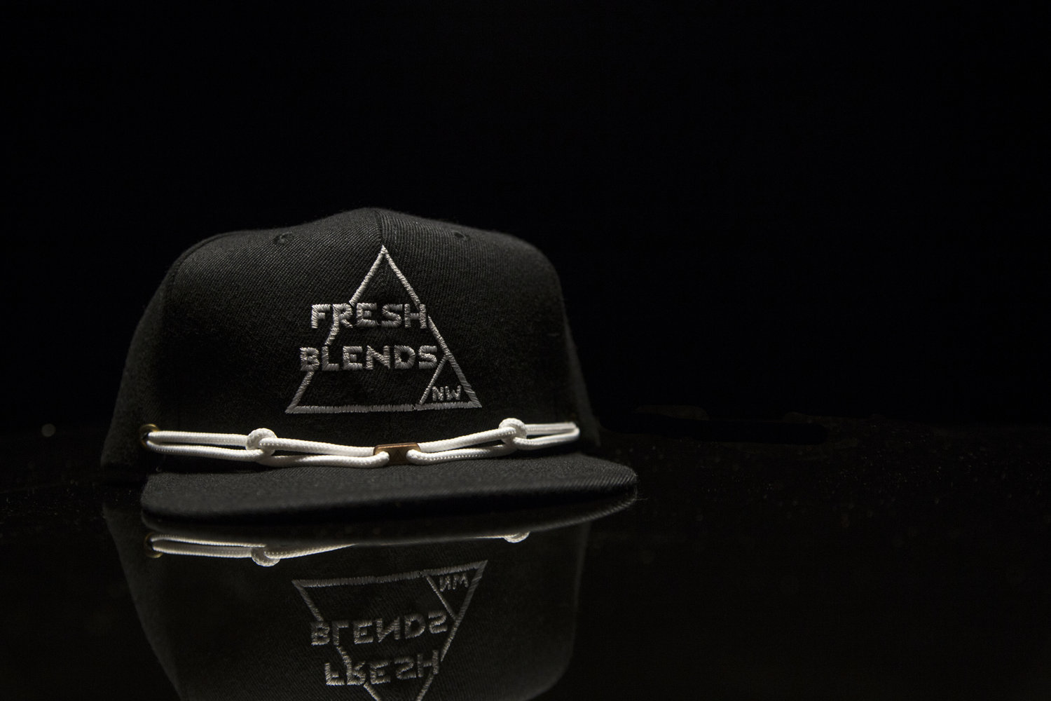 ea24e81355a Fresh Blends NW Snapback Hat -- Black with white accent (Free Shipping) —  FRESH BLENDS NW