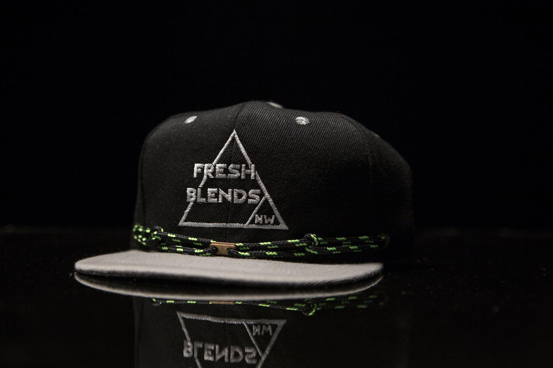 Fresh Blends NW Snapback Hat- Black   Grey (Free Shipping) — FRESH BLENDS NW f42542b9364