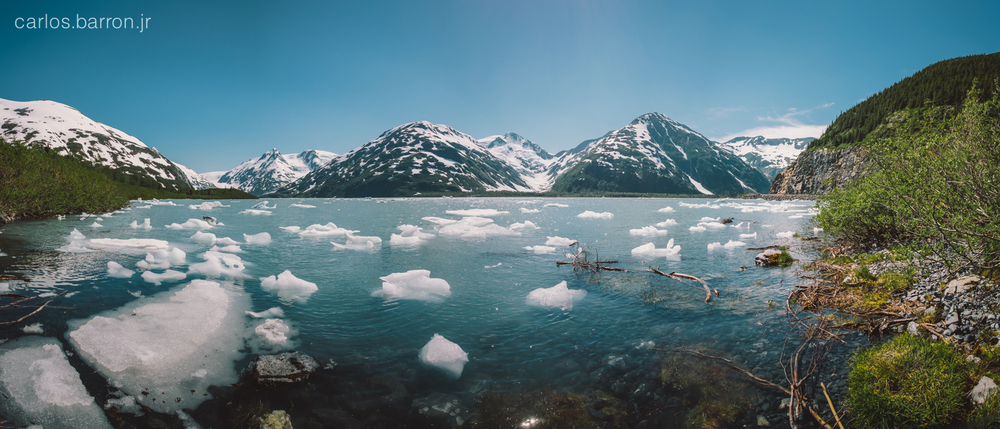 Portage Lake is a beautiful glacial lake in the Chugach National Forest.