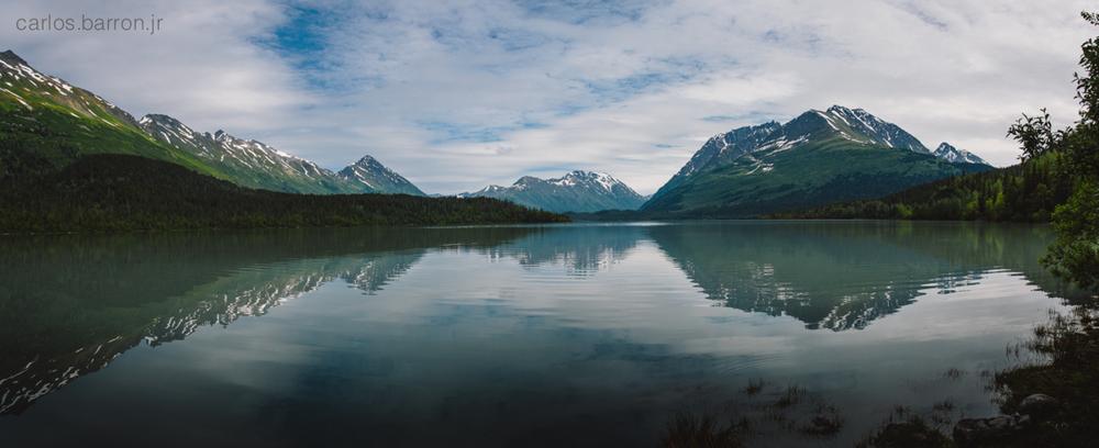 Upper Trail Lake near Moose Pass, AK.