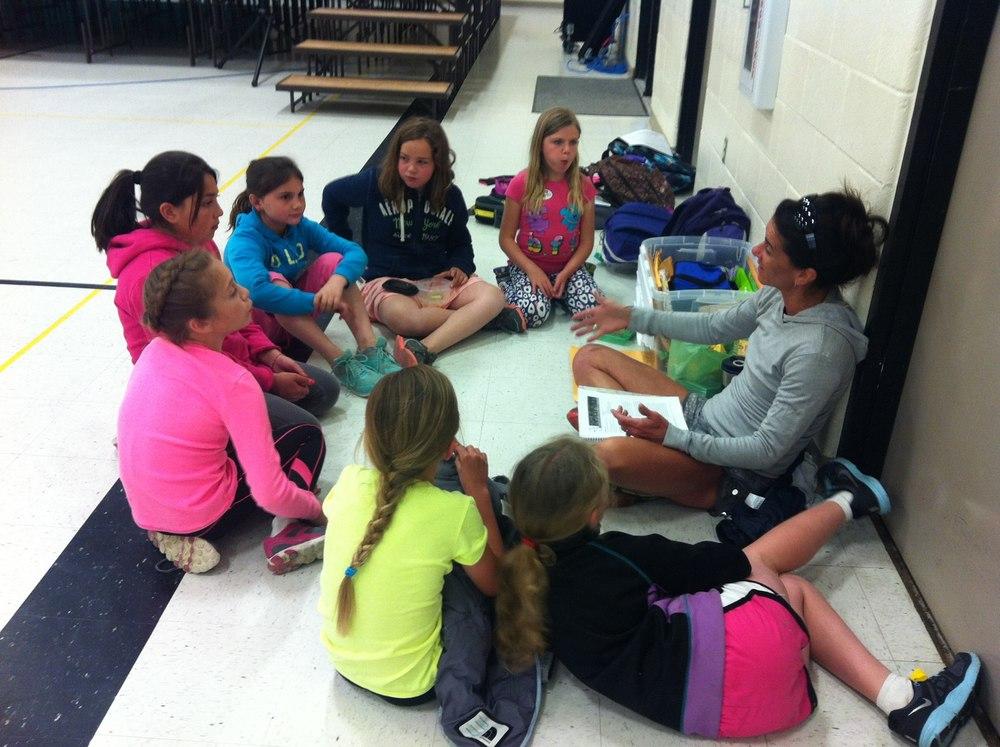 Bella & her Bellevue Elementary team.