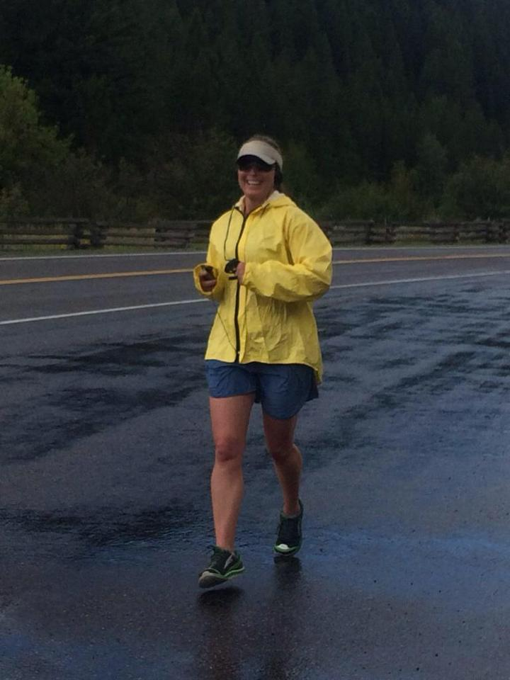 Thunder and lightening didn't keep Ceisha for finishing her first leg.