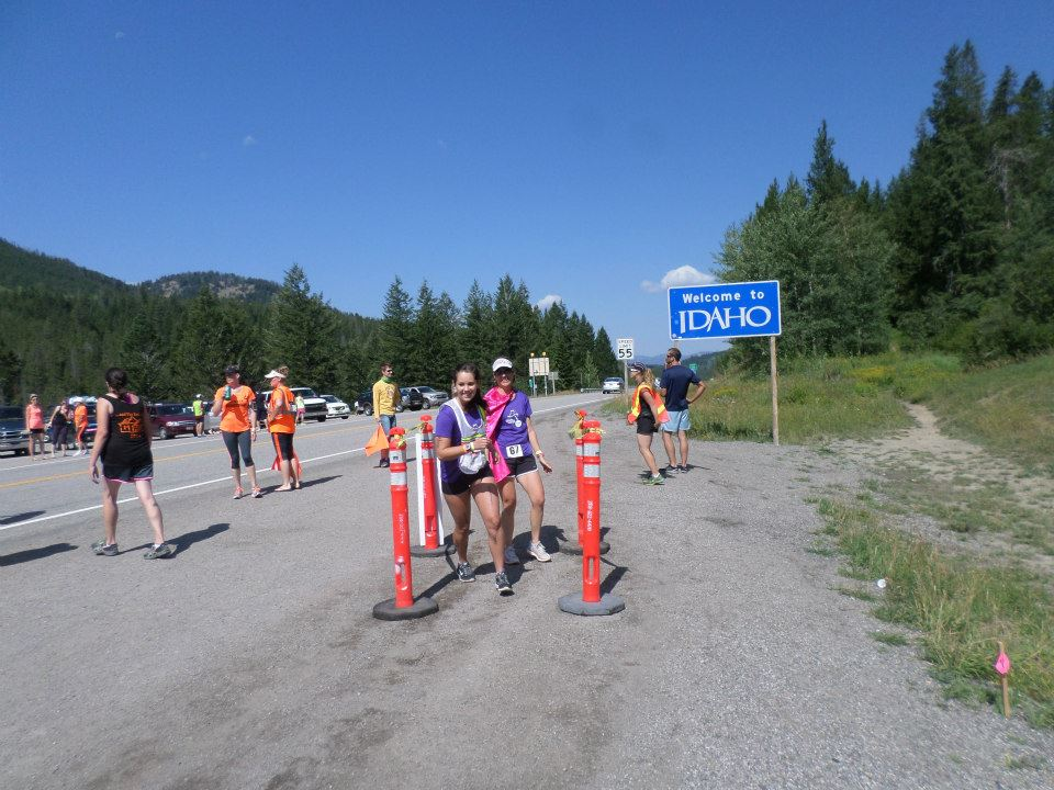 The hand off to Loni so she can tackle the bottom portion of Teton Pass.