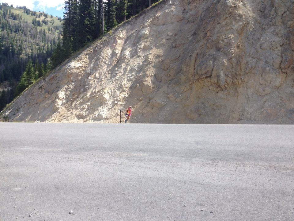 Susie rockin' Teton Pass!