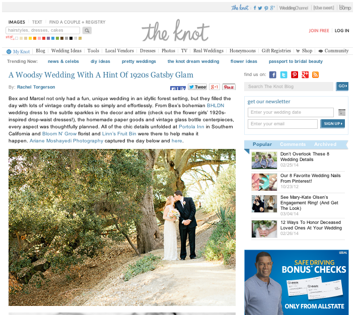 Bex and Marcel The Knot Feature