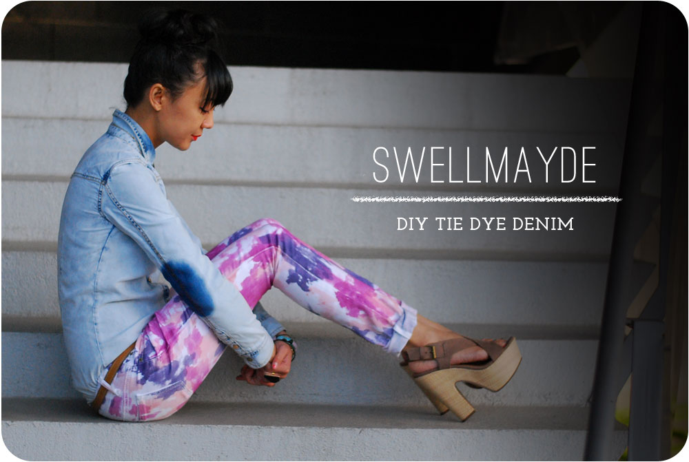 DIY  Tie Dye Denim     Unique Markets HSeN41Cv